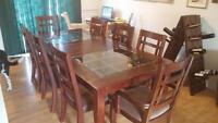 large Wood and glass Dining room table