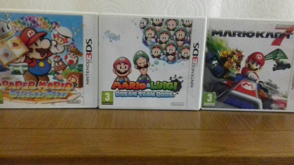 3ds Game Bundle Paper Mario Sticker Star, Mario Kart 7 and Mario & Luigi  Dream Team Bros | in Leighton Buzzard, Bedfordshire | Gumtree