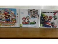 3ds Game Bundle Paper Mario Sticker Star, Mario Kart 7 and Mario & Luigi Dream Team Bros