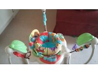 Colourful Fisher Price Luv u zoo Jumperoo for sale