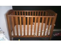mother care wooden cot