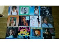 whitney houston vinyls - portfolio box set / dj promo's / white labels / LP's /