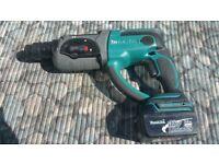 Makita DHR202 LXT 18v SDS Hammer Drill 3 Function