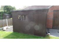 Wooden garden shed 10 x 7 ft very well made last for years