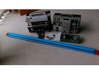 2 x cine film projectors with screen, instructions and speaker