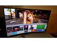"""SAMSUNG 40"""" CURVED ULTRA HD 4K HDR Smart LED TV,800Hz,built in Wifi,Freeview,Excellent condition"""