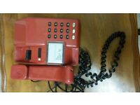 Old Push Button Phones landlines one red one cream, working order £10 each Bargain