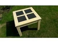 Three tables: Coffee table, two matching side tables