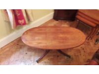 Yew Coffee Table and Nest of 3 Tables (can Sell Separately)