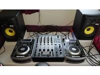 Complete dj setup krk rokit 6 numark ndx400 behringer mixer cdjs speakers