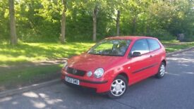 2002 VOLKSWAGEN VW POLO 1.4 16V 5 SPEED EXCELLENT FIRST CAR WORK COMMUTER