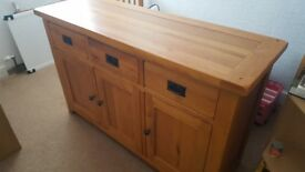 Solid oak sideboard Barker and stonehouse