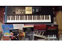 Yamaha YPT-220 Electronic Keyboard and Music Books