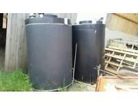 Water tank plastic storage butts