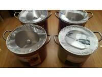 Stockpot with glass lid