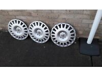 3 wheel trims for 2008 Astra