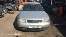 2000 Audi A3 1.8t Quattro 3dr Petrol Silver BREAKING FOR SPARES