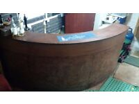 Bar and beer pumps - curved, 2.5 meters, perfect for garage or basement bar / man cave conversion