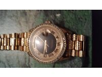 ROLEX SUPER PRESIDENT MENS SOLID 18K YELLOW GOLD WATCH. DIAMOND ENCRUSTED THROUGHOUT