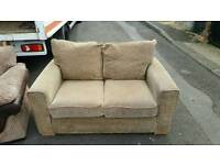 Harveys 2 seater sofa in light brown fabric mint mint condition! £110 delivered