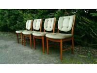 4 mcintosh teak dining chairs retro