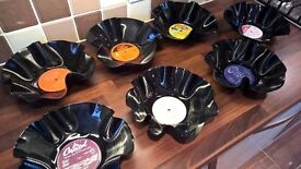 Vinyl LP Record Bowls - Hand-Moulded - Great Gifts & Decor!