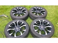 Jaguar XF 18 inch alloys + (Pirelli P Zero) tires 245 / 45 / 18
