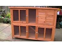 double height rabbit hutch (bluebell)