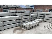 "•New• Reinforced Concrete Fencing Base Panels / Gravel Boards - 6Ft x 1Ft / 6Ft x 6"""