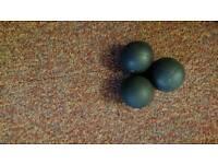 Squash rackets and squash balls