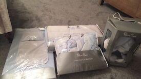 Vintage silver cross bedding