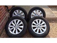 Vw amarok alloy wheels with tyres