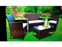 4pc Rattern Garden Furniture set