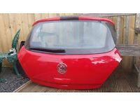 VAUXHALL CORSA D TAILGATE 3 DOOR RED COMPLETE WITH GLASS AND WIPER