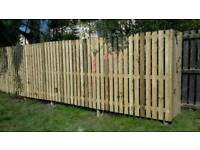 Fencing wooden or metal