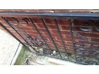 17 feet long driveway gate on wheels inc heavy duty track plus single matching entry gate