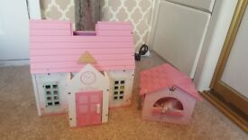 Dolls house and stable