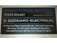 APPROVED ELECTRICIAN / MULTI-SKILLED (D GODDARD ELECTRICAL)