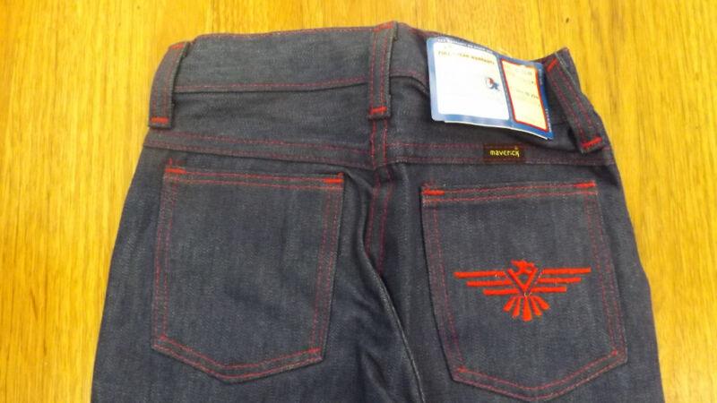 VTG Girls Maverick Blue Bell PHOENIX Denim Blue Jeans sz 6S NOS USA Made 20 x 20