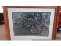 Framed Aerial Photograph