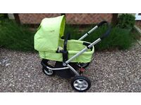 Mothercare My3 pram/ puschchair in light green -very clean