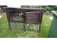 Rabbit hutch, cage and accessories