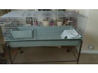 Rabbit cage and stand