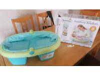 New Summer Infant Newborn to Toddler Folding Bath - Blue