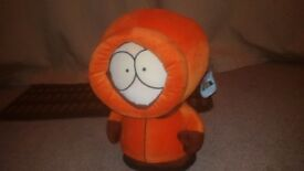 "two vintage south park characters eric and kenny 16"" tall"