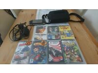 Psp console and 7 games