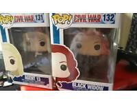 2 POP! Vinyl bobble heads Black Widow and Agent 13