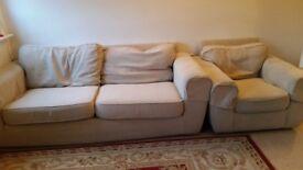 Fabric sofa 3 seater + 1 seat