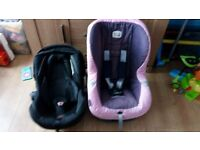 Britax car & Sliver cross car seats
