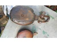 Two old pulley s boat